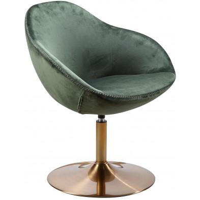 Fauteuil moderne vert design en acier L. 70 x P. 70 x H. 79 cm collection Sarrazola