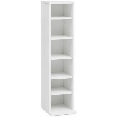 Bibliothèque blanc design en panneaux de particules mélaminés de haute qualité L. 21 x P. 20 x H. 90 cm collection Mijnen