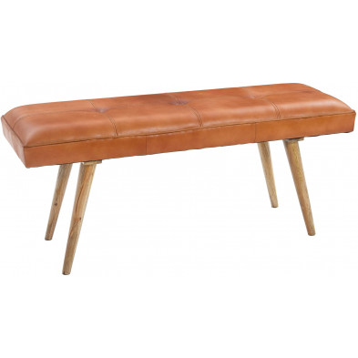 Bancs & banquettes de salle à manger marron vintage en bois massif manguier L. 117 x P. 38 x H. 51 cm collection Sef
