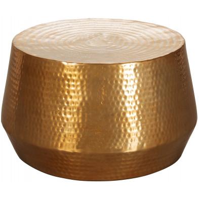 Table basse or design en aluminium L. 60 x P. 60 x H. 36 cm collection Jooren