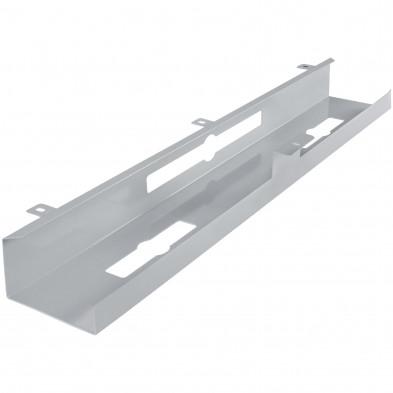 Gaine de câble pour bureaux argenté design en acier L. 80 x P. 13 x H. 7 cm collection Celles