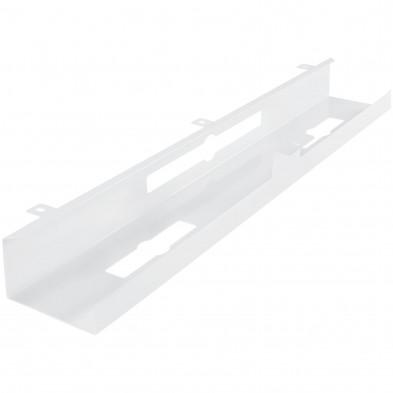 Gaine de câble pour bureaux Blanc design en acier L. 80 x P. 13 x H. 7 cm collection Celles
