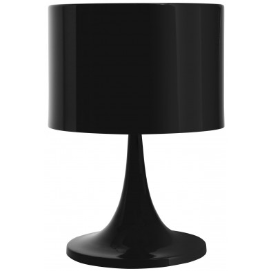 Lampe à poser noir design en acier L. 25 x P. 25 x H. 37 cm collection Gergal