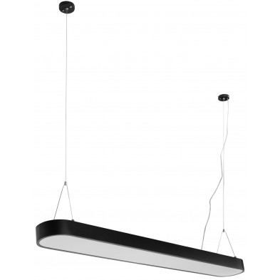 Suspension noir design en acier L. 120 x P. 15 x H. 121 cm collection Lowton