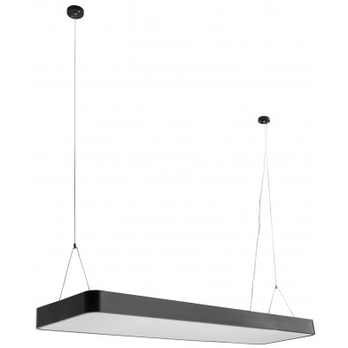 Suspension noir design en acier L. 120 x P. 30 x H. 121 cm collection Celina