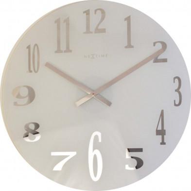 Horloge murale transparent moderne en verre  collection Dagsboro