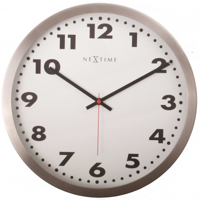 Horloge murale blanc en acier collection Narrow