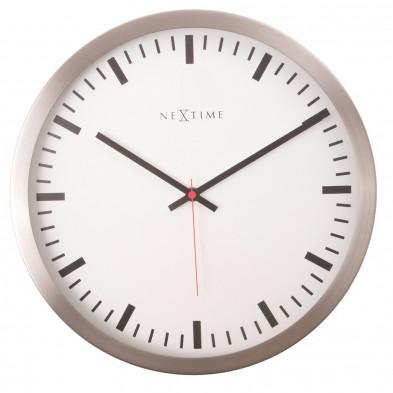 Horloge murale blanc en acier collection Delcie