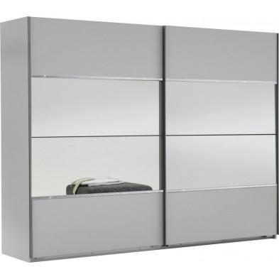 Armoire porte coulissante blanc design L. 270 x P. 65 x H. 210 cm collection Cefnypant