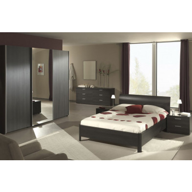 Chambre adulte complète marron contemporain  collection Jaileigh