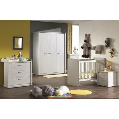 Chambre bébé complète gris contemporain en panneaux de particules collection Panicucci