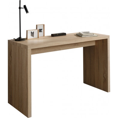 Bureau  marron contemporain en bois mdf L. 120 x P. 50 x H. 75 cm collection Boubu