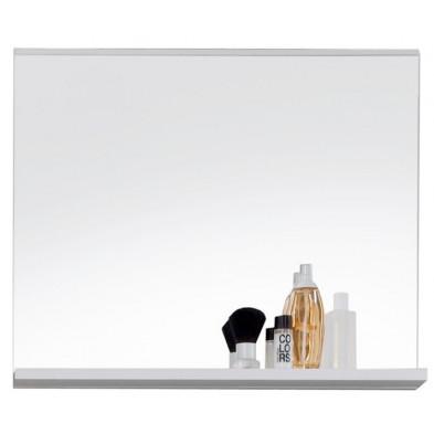 Miroir de salle de bain design avec tablette coloris blanc  L. 60 x P. 10 x H. 50 cm collection Martham