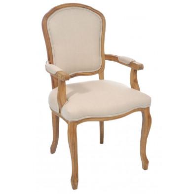 Chaise baroque Beige en Bois massif 60 cm de largeur collection Clumsy