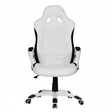 Chaise et fauteuil de bureau blanc design en PVC L. 56 x P. 62 x H. 122 - 130 cm collection Vansplunter