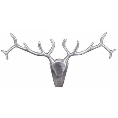 Trophées muraux gris design en aluminium L. 98 x P. 6 x H. 42 cm collection Waldie