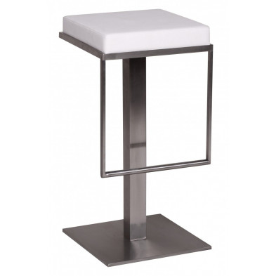 Tabouret de bar blanc design en PVC  L. 38 x P. 38 x H. 76 cm collection Clocks
