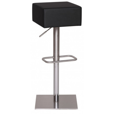 Tabouret de bar noir design en PVC L. 38 x P. 38 x H. 66 - 89 cm L. 38 x P. 38 x H. 66 - 89 cm collection Scant
