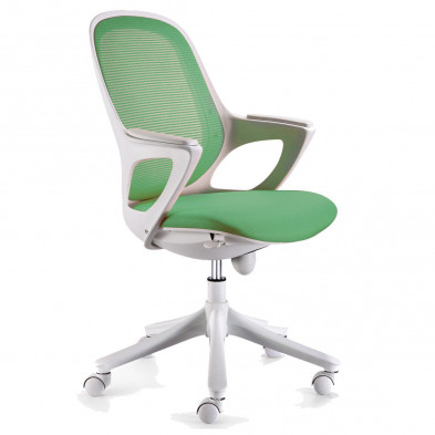 Chaise et fauteuil de bureau vert design L. 60 x P. 60 x H. 93 - 103 cm collection Cisternino