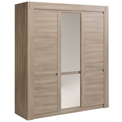 Armoire contemporain marron L. 184 x P. 56 x H. 211 cm collection Vanrenselaar
