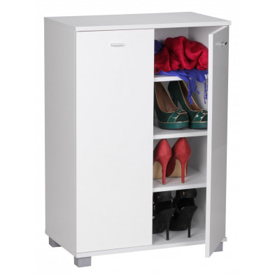 Meubles chaussures blanc design en panneaux de particules de haute qualité L. 60 x P. 35 x H. 90 cm collection Godfrey