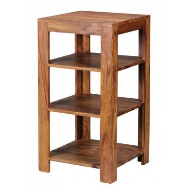 Bibliothèque marron contemporain en bois massif L. 44 x P. 44 x H. 83 cm collection Aller