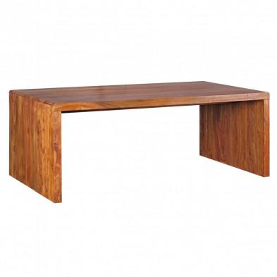 Bureau marron contemporain en bois massif L. 200 x P. 100 x H. 76 cm collection Vlekkem