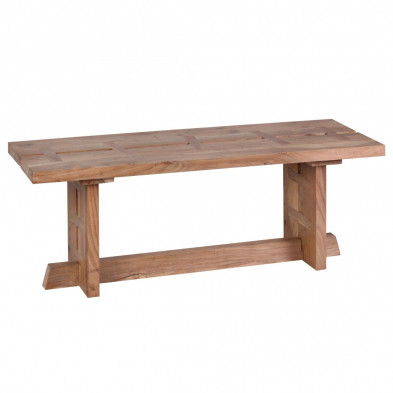 Bancs & banquettes de salle à manger marron contemporain en bois massif L. 118 x P. 40 x H. 45 cm collection Army