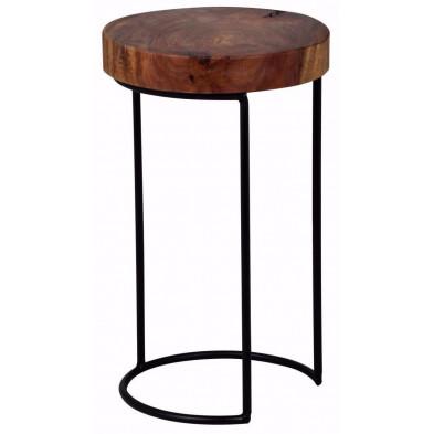 Table d'appoint marron contemporain L. 28 x P. 28 x H. 45 cm  collection C-Tilly