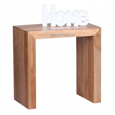 Table d'appoint marron contemporain en bois massif L. 60 x P. 35 x H. 60 cm collection Army