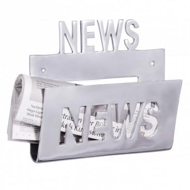 Autres objets déco argenté design en aluminium L. 30 x P. 30 x H. 27 cm collection Grobposna