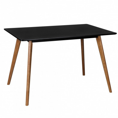 Table design noir scandinave en bois mdf L. 120 x P. 80 x H. 75 cm collection Appeln