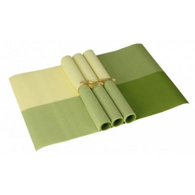 Lot de 4 Textile de table et de cuisine vert moderne en pvc L. 45 x P. 30 cm collection Traffordpark