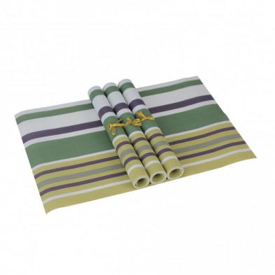 Lot de 4 Textile de table et de cuisine jaune moderne en pvc L. 45 x P. 30 cm collection Traffordpark