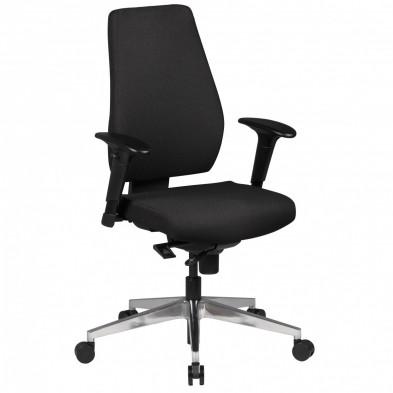 Chaise et fauteuil de bureau noir design en tissu 63 cm de largeur L. 63 x P. 63 x H. 101 - 119 cm collection Resi