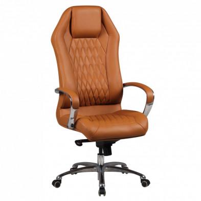 Chaise et fauteuil de bureau marron design en L. 67 x P. 67 x H. 126 - 136 cm collection Complex