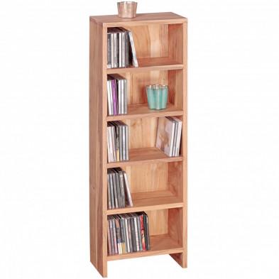 Bibliothèque marron contemporain en bois massif L. 30 x P. 17 x H. 90 cm collection Army