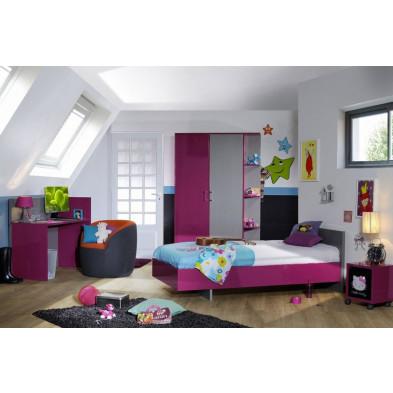 Chambre enfant complète rose design en collection Nilay