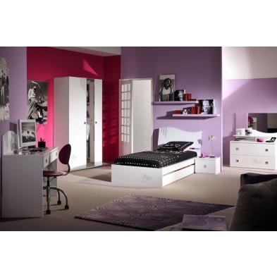 Chambre enfant complète blanc design en collection Halting