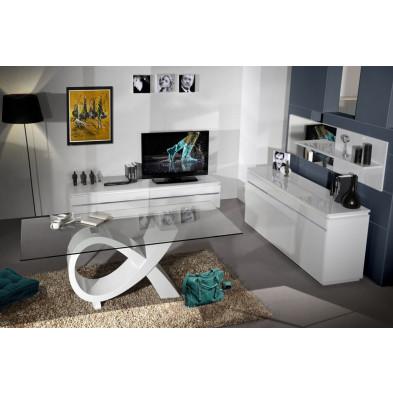 Salle à manger complète blanc design en collection Mcnally