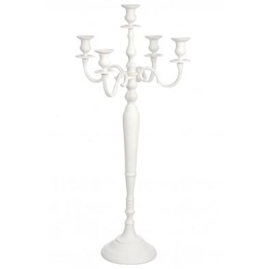 Bougeoirs et chandeliers blanc en aluminium 99 cm collection Gamache
