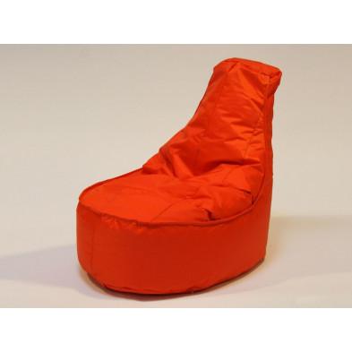 Repose-pied et pouf orange design en nylon H105 x L75 x P100 collection Parlesca