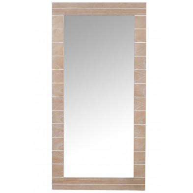 Miroir marron moderne en bois massif 60 x 120 cm collection Foggathorpe