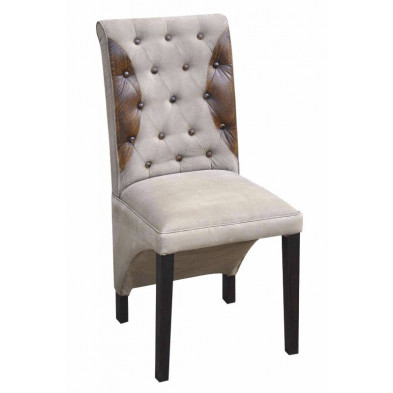 Chaises de salle à manger contemporaine Marron en Bois massif 43 cm de largeur collection Castlerising