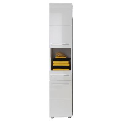 Colonne de rangement pour salle de bain design coloris blanc L. 37 x P. 31 x H. 182 cm collection Fynn