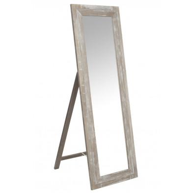 Miroir sur pied marron classique en bois massif 55 x 165 cm collection Getur