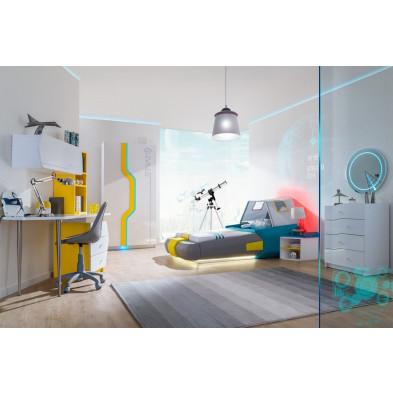 Chambre enfant complète blanc design en collection Bursay
