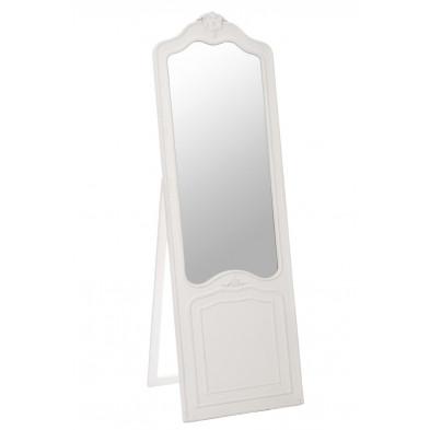 Miroir sur pied blanc en bois massif 55 x 169 cm collection Brobbel