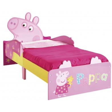 Lit petit enfant 70x140 cm design Peppa Pig  coloris rose collection Beat