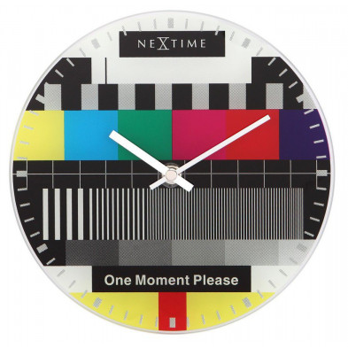 Horloge à poser multicouleur design en verre collection Emelia